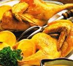 Grillowany kurczak w pomarańczach
