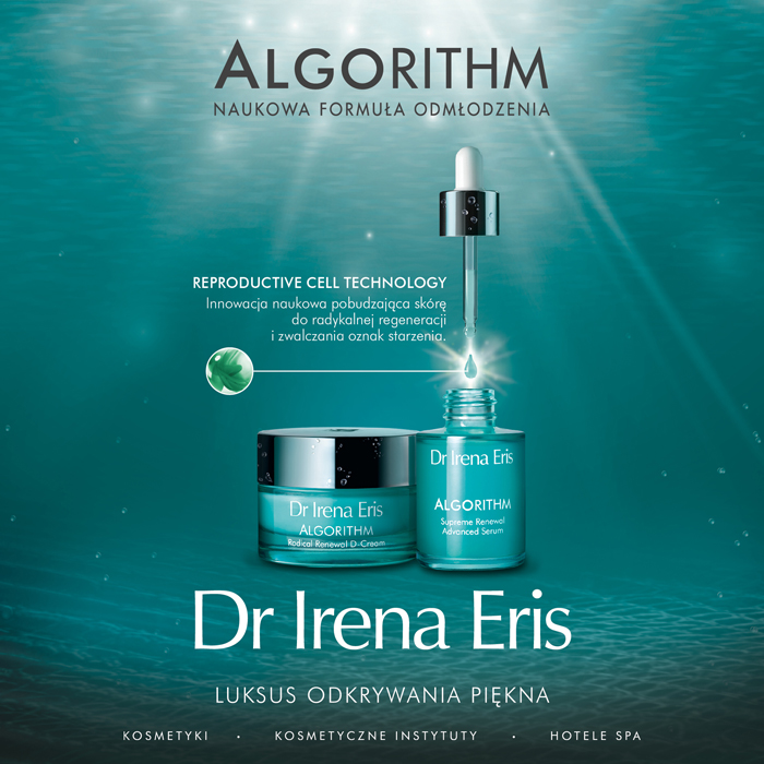Poznaj siłę biomolekuł algowych w nowej serii Dr Irena Eris Algorithm