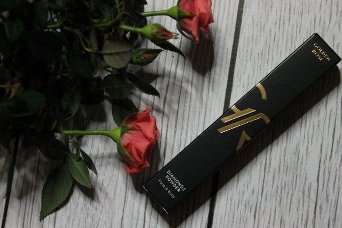 golden rose puder diamentowy w pędzlu