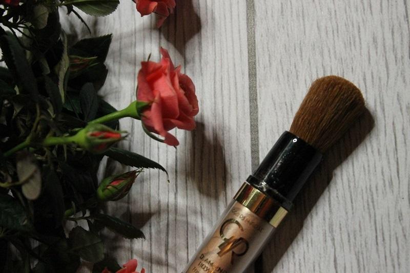 puder diamentowy w pędzlu golden rose