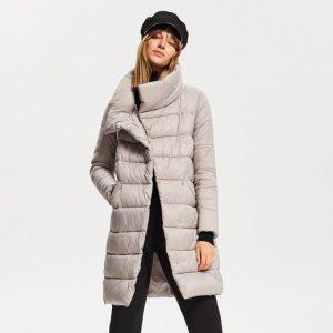 ciepły płaszcz puchowy