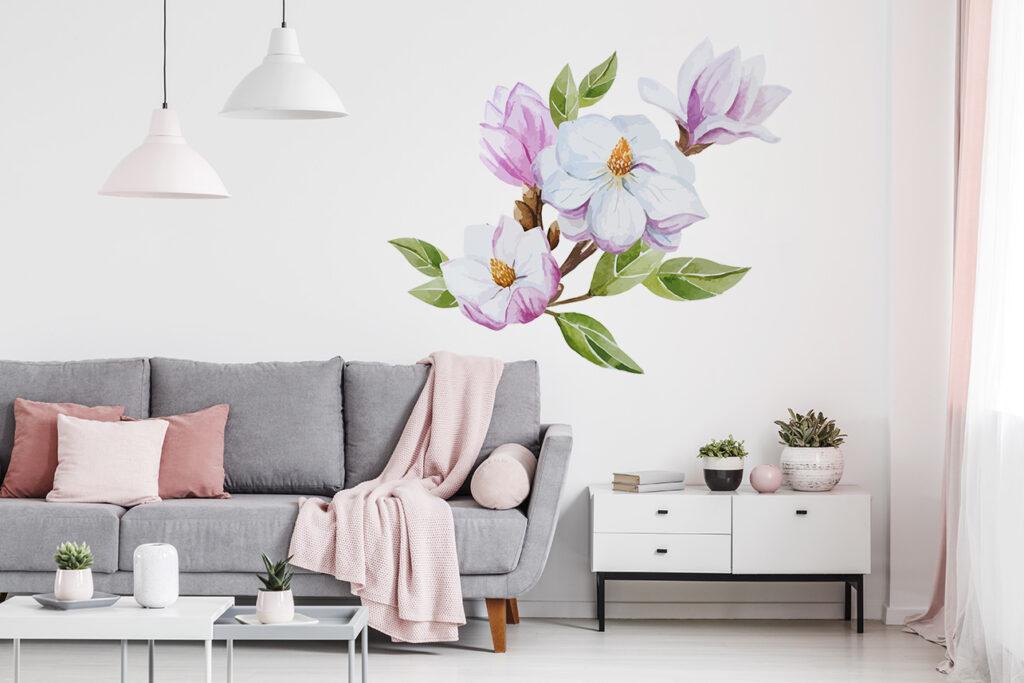 naklejka kwiaty magnolia