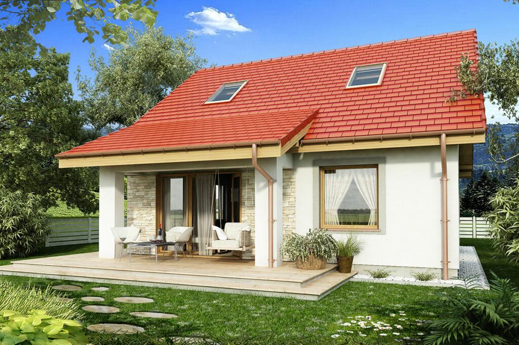 Projekt małego domu dla kobiety