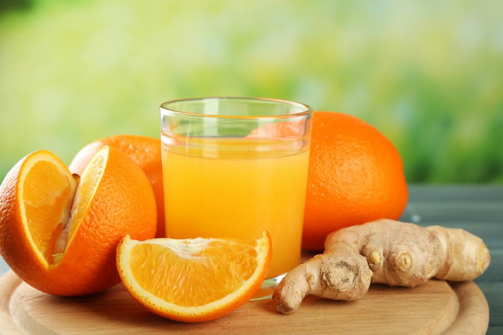 sok z pomarańczy i imbiru