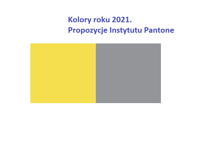 Kolory roku 2021 według Pantone