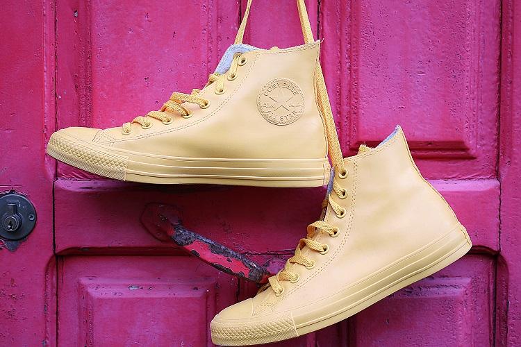 Sneakersy z elementem ozdobnym typu color blocking